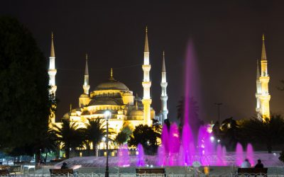 Avondfoto Blauwe Moskee