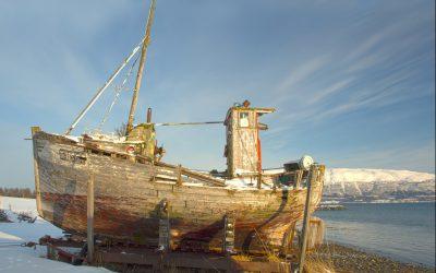 Oude vissersboot
