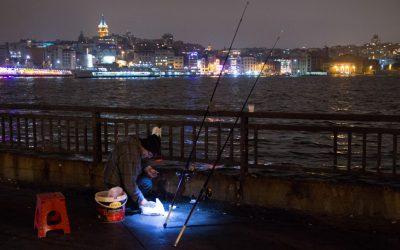 Visser aan de Bosporus